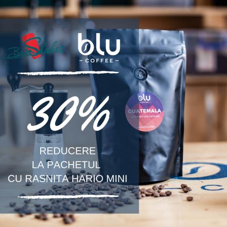 Cafea Blu Coffee + Rasnita HARIO mini